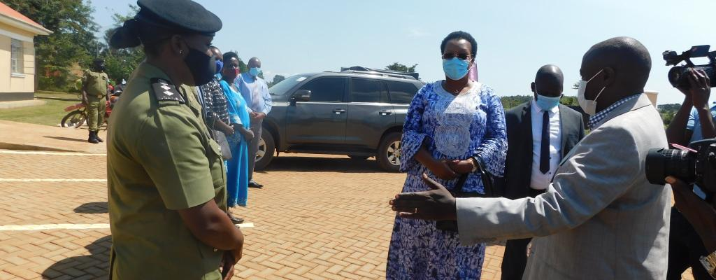 MINISTER OF STATE FOR YOUTH AND CHILDREN  AFFAIRS HON NYIRABASHITSI SARAH MATEKE AT THE COMMISSIONING OF PROTECTION CENTER
